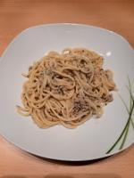 Spaghetti mit Thunfisch Zitrone Sauce