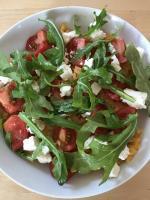 Risotto mit Feta/Ruccola und Tomaten