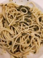 Spinat Knoblauch Spaghetti