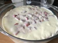 Vanillepudding mit Erdbeeren