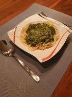 Knoblauch Spinat Spaghetti