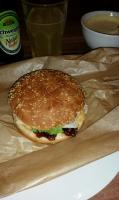 Burger mit der Sauce
