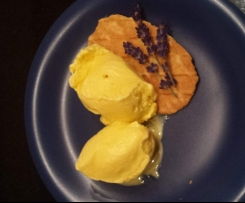 Lavendeleis - Vanilleeis-Basis