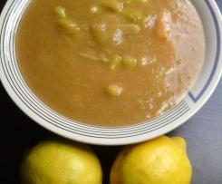 Zitrone küsst Rhababer-Kompott