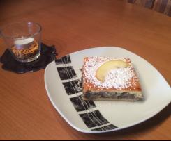 Apfel-Mohn-Kuchen mit Frischkäse