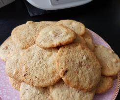 Weiße Schoko Erdbeer Cookies