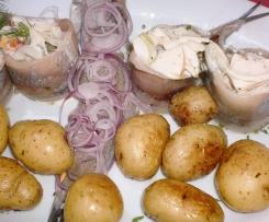 Matjes Matjessalat oder Heringsalat