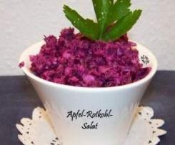 Apfel-Rotkohlsalat