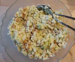 Weisskohlsalat mit Kichererbsen