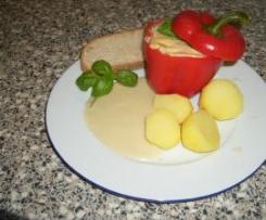 Blumenkohl in Paprika mit Kartoffeln und Soße
