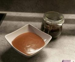 Schokopudding aus Marzipan-Trinkschokolade