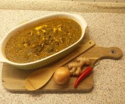 Chicken Murgh Palak (indisch, Hähnchen mit Spinat )