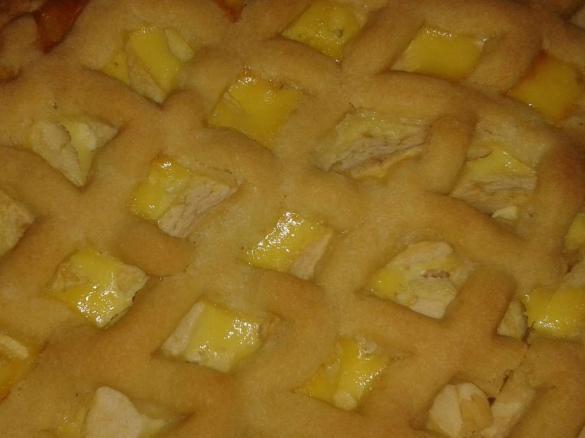 Quark Apfel Kuchen Mit Teiggitter Von Teddyundine Ein Thermomix
