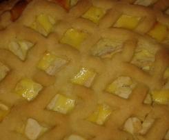 Quark-Apfel-Kuchen mit Teiggitter