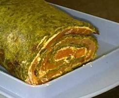 Spinat-Lachs-Frischkäse Rolle