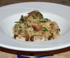 Einfaches Pilz-Risotto (vergan)