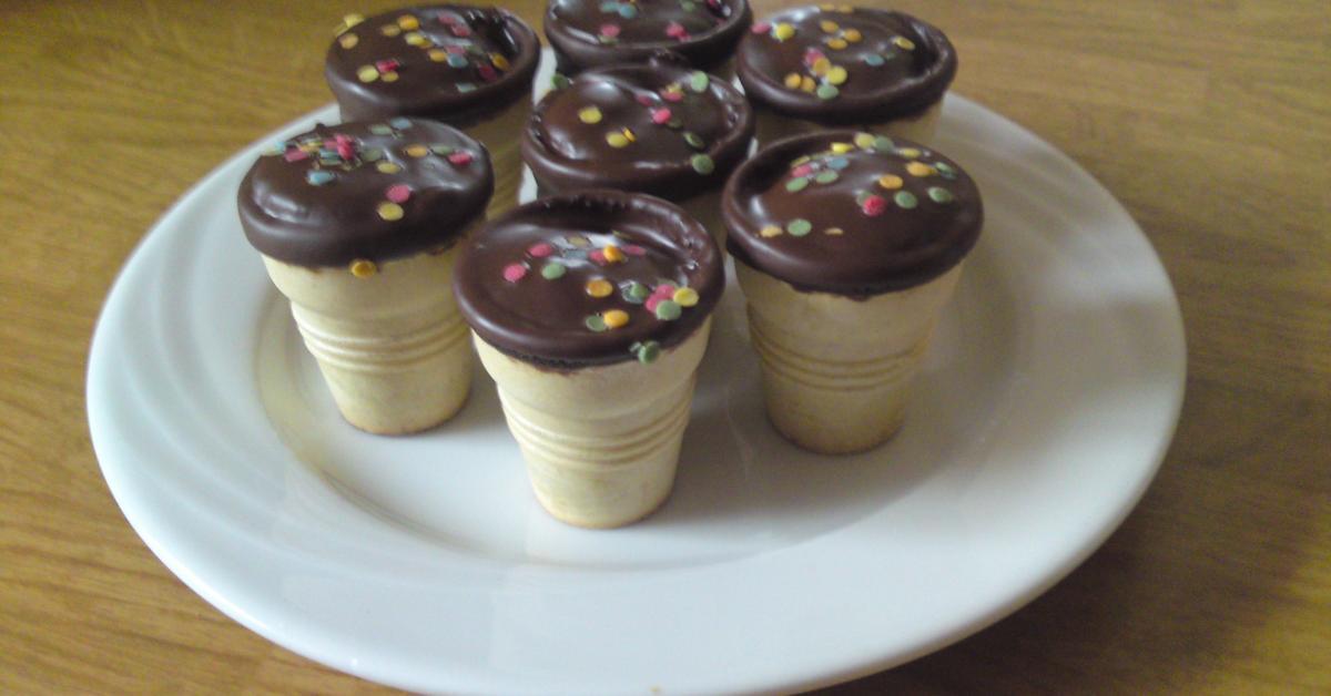muffins im waffelbecher gebacken von herzlinde ein