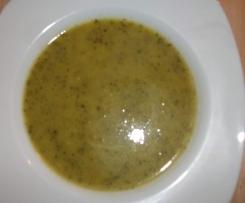 Zucchinicremesuppe, figurfreundlich