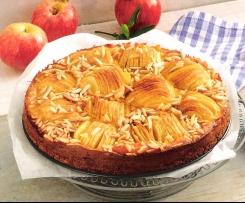 Elsässer Apfelkuchen mit Mandelstiften und Zimtaroma
