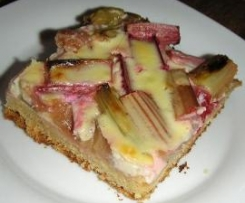 Rhabarberkuchen mit Quarkguss (Blech) - Rezept d. Tages 19.05.2012