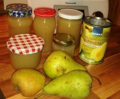 Birnen Zitronen Marmelade