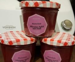 Pflaumen-Apfel-Marmelade mit Zimt und Vanilie