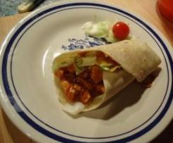 Tortillas mit Texicana Salsa und Putestreifen