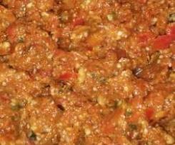 Pesto mit Tomaten und Paprika ohne Knoblauch