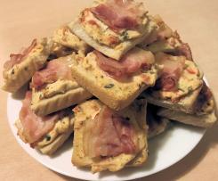 Frischkäse  Tomaten  Bacon  Häppchen