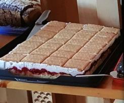 Himbeer Butterkeks Kuchen