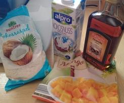 Mangoeis mit Amaretto