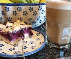 Heidelbeeren Quark Streusel Kuchen