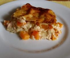 Kürbis- Lachs Lasagne