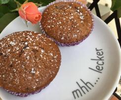 Nektarinen-Bananen-Schoko-Muffins