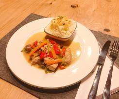 Thai-Curry mit Hähnchenbrust und Gemüse