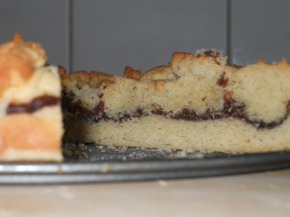 Nutella kuchen mit streusel