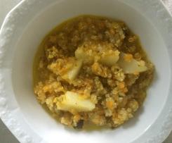 Eintopf / Suppe a la Lydia mit Kartoffeln u Graupen / vegan 20 Min. fertig. / auch to go!
