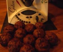 Bananen-Nutella-Muffins mit Schokoraspel