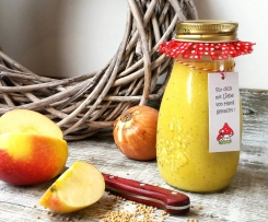 Apfel-Zwiebel-Curry Dressing