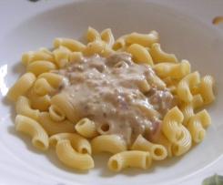 Thunfisch - Käse Soße