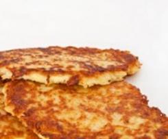 Kartoffelpüree - Plätzchen mit Käse Resteverwertung