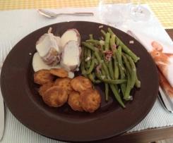 Schweinefilet im Speckmantel mit Bohnen & Kartoffeln