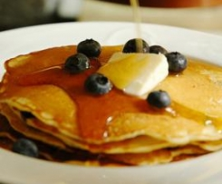 Variation von Pancakes (amerikanische Eierkuchen)