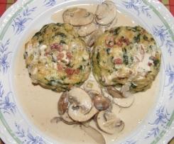 meine (orig.) Variation von Spinat-Käse-Speck-Semmelknödel