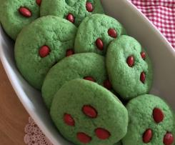 Grinch Cookies mit M&Ms