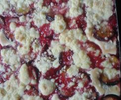 Pflaumen- oder Apfelkuchen