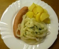 Kohlrabispaghetti mit Wurst und Kartoffel - ALL IN ONE