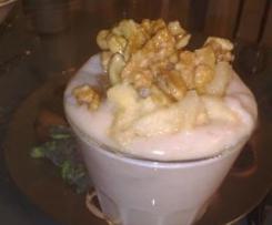 Vanillepudding mit Bratapfelhaube
