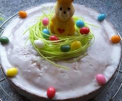 Möhrenkuchen mit essbarem Osternest, saftig, nicht nur zu Ostern lecker, Osterkuchen