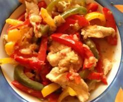 Variation Hähnchenfilet mit Paprikagemüse All-in-one mit Reis